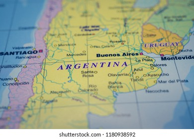 Argentina on the map