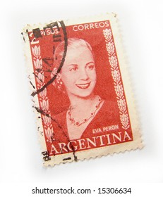Argentina postage stamp on white background.