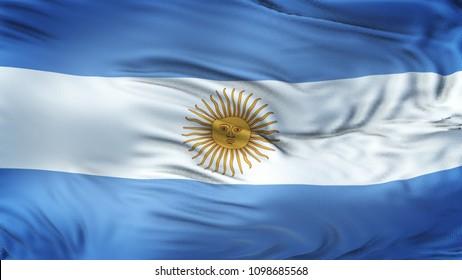 ARGENTINA Realistic Waving Flag Background