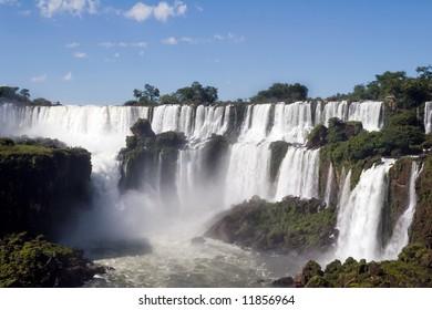 Argentina side of Iguazu Falls in South America