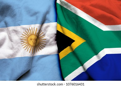 Argentina and South Africa flag together
