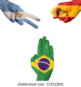 Argentina Spain Brazil   Rock-Paper-Scissors