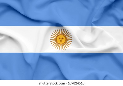 Argentina waving flag