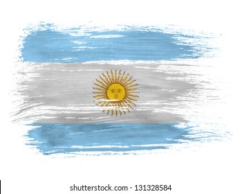 Argentine. Argentinean flag  on white background