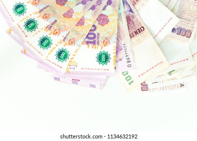 Argentine money, pesos, high denominations