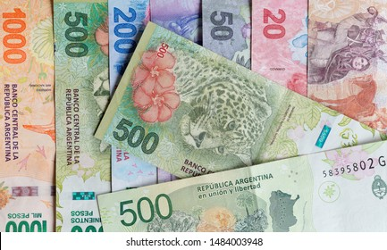 Argentine Republic Bills, The New Argentine Peso Bills. 500 pesos Argentinos.