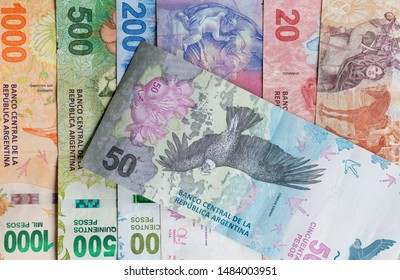 Argentine Republic Bills, The New Argentine Peso Bills. 50 Pesos Argentinos.