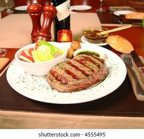 Argentinian cut meat called bife de chorizo