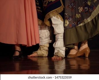 argentinian folklore dancers in the dark