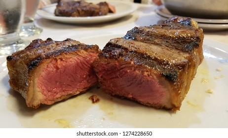 Argentinian rump steak medium rare