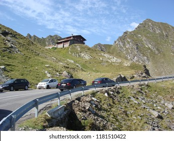 Arges, Romania - 2018 Travel photo from Arges County, Romania. Transfagarasan road crossing the mountains - tourist attraction.