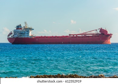 argo freight ship in the caribbean sea. Freight Transportation.