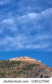 ARGOS, GREECE - JULY 12, 2009: medieval Argos Larissa Castle