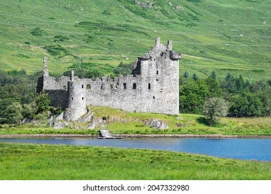 Argyll And Bute, Scotland - July 15 2021; Kilchurn Castle on the edge of Loch Awe