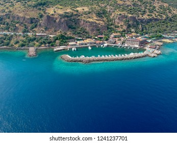 Arial view of Assos (Behramkale) in Canakkale, Turkey