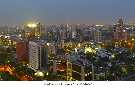 Arial View of Central New Delhi India