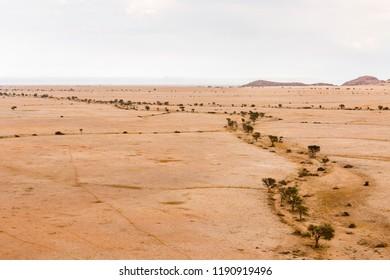 Arial view, ephemeral river, Namib-Naukluft-Nationalpark