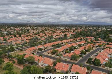 Arial view of Gilbert Arizona