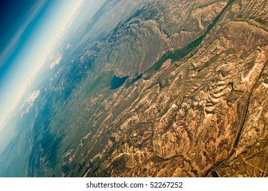 arial view over Utah