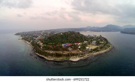 Arial view of Sabang Fair Park, Sabang, Weh Island, Nanggro Aceh Darussalam
