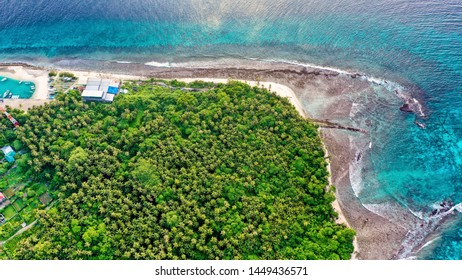 Arial view of a tropical island