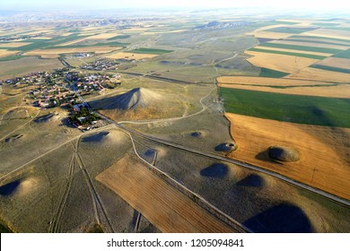 Arial view of the tumulus of King Midas