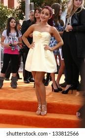 Ariana Grande at the 2012 Nickelodeon Kids' Choice Awards, Galen Center,  Los Angeles, CA 03-31-12