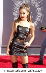 Ariana Grande at the 2014 MTV Video Music Awards held at the Forum in Los Angeles on August 24, 2014 in Los Angeles, California.