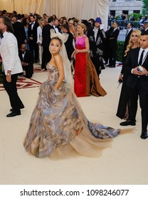 Ariana Grande attends the 2018 Metropolitan Museum of Art Costume Institute Benefit Gala on May 7, 2018 at the Metropolitan Museum of Art in New York, New York, USA