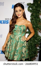 Ariana Grande at the KIIS FM's Jingle Ball 2012 held at the Nokia Theatre LA Live in Los Angeles on December 1, 2012.