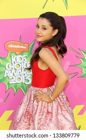 Ariana Grande at Nickelodeon's 26th Annual Kids' Choice Awards, USC Galen Center, Los Angeles, CA 03-23-13