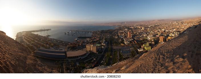 Arica seaport panorama