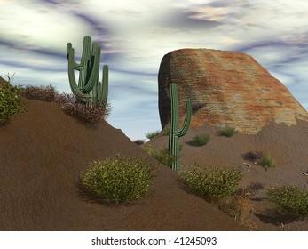 An arid desert