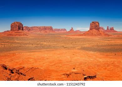 Arid Desert Landscape in Monument Valley, Utah