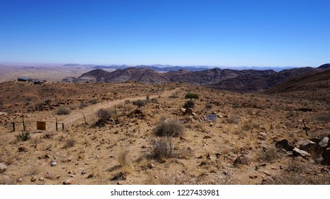 Arid savannah landscape in Namibia, Africa