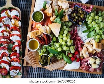 Ariel cheese platter summer food modern