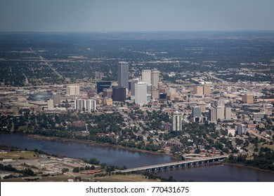 Ariel photo of downtown Tulsa