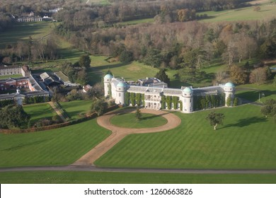 Ariel view of Goodwood House Goodwood Southdowns National Park Chichester West Sussex