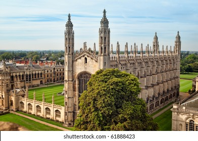 Ariel view of King`s College, Cambridge.