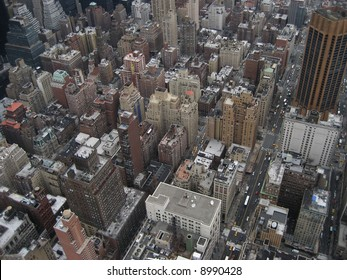 Ariel view of New York City.