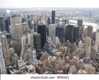 ariel view of New York City