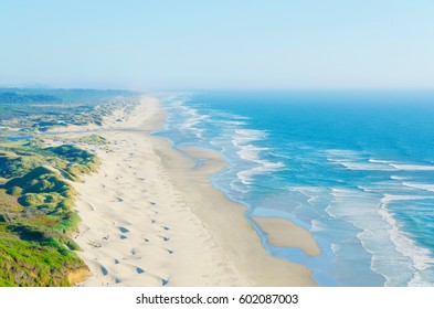 Ariel view of the Pacific California Coast in summer