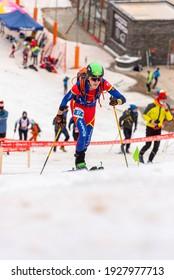 Arinsal, Andorra : 2021 March 2 : PRAT BELLSOLÀ Marcel AND in the ISMF WC Championships Comapedrosa Andorra 2021- Sprint Senior.