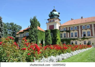 Aristocratic castle, the residence of the garden