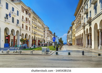 Aristotelous street in Thessaloniki sity center, Greece
