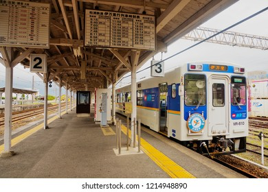 Arita ,Saga ,Japan - May 6th,2015 : Interior of JR Arita railway station where is interchange station to Nishi-Kyushu Line of Matsuura Railway to provide the passengers go to Arita - Imari - Sasebo.