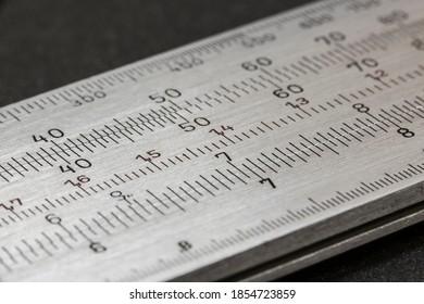 arithmetic slide rule tecnical old