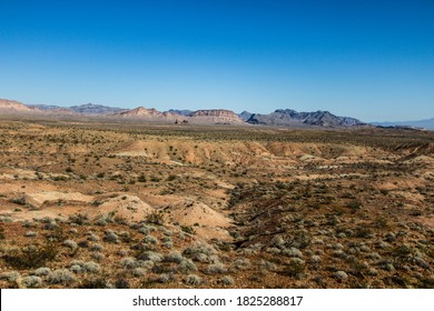 Arizona Desert Background. Vast barren desert landscape in southwest Arizona.