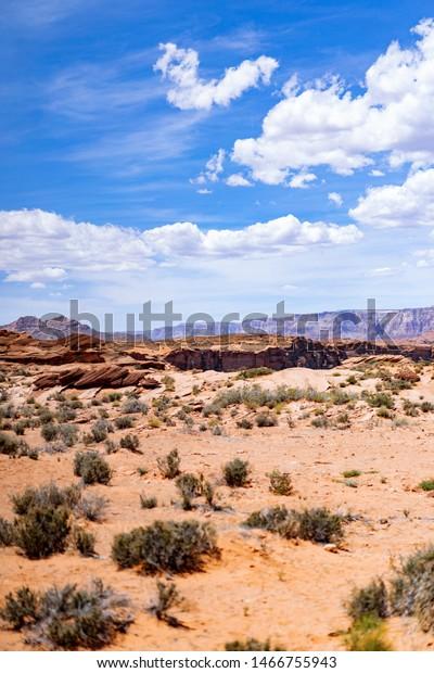Arizona Desert Landscape Background Wallpaper Stock Photo Edit Now 1466755943