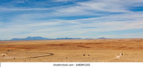Arizona desert near Flagstaff and  MeteorCrater